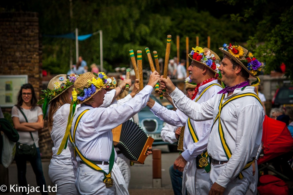 Kingston Morris performing a Stick Dance